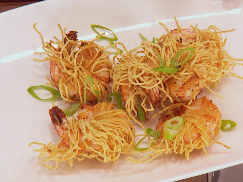 Crispy Noodle Wrapped Shrimp