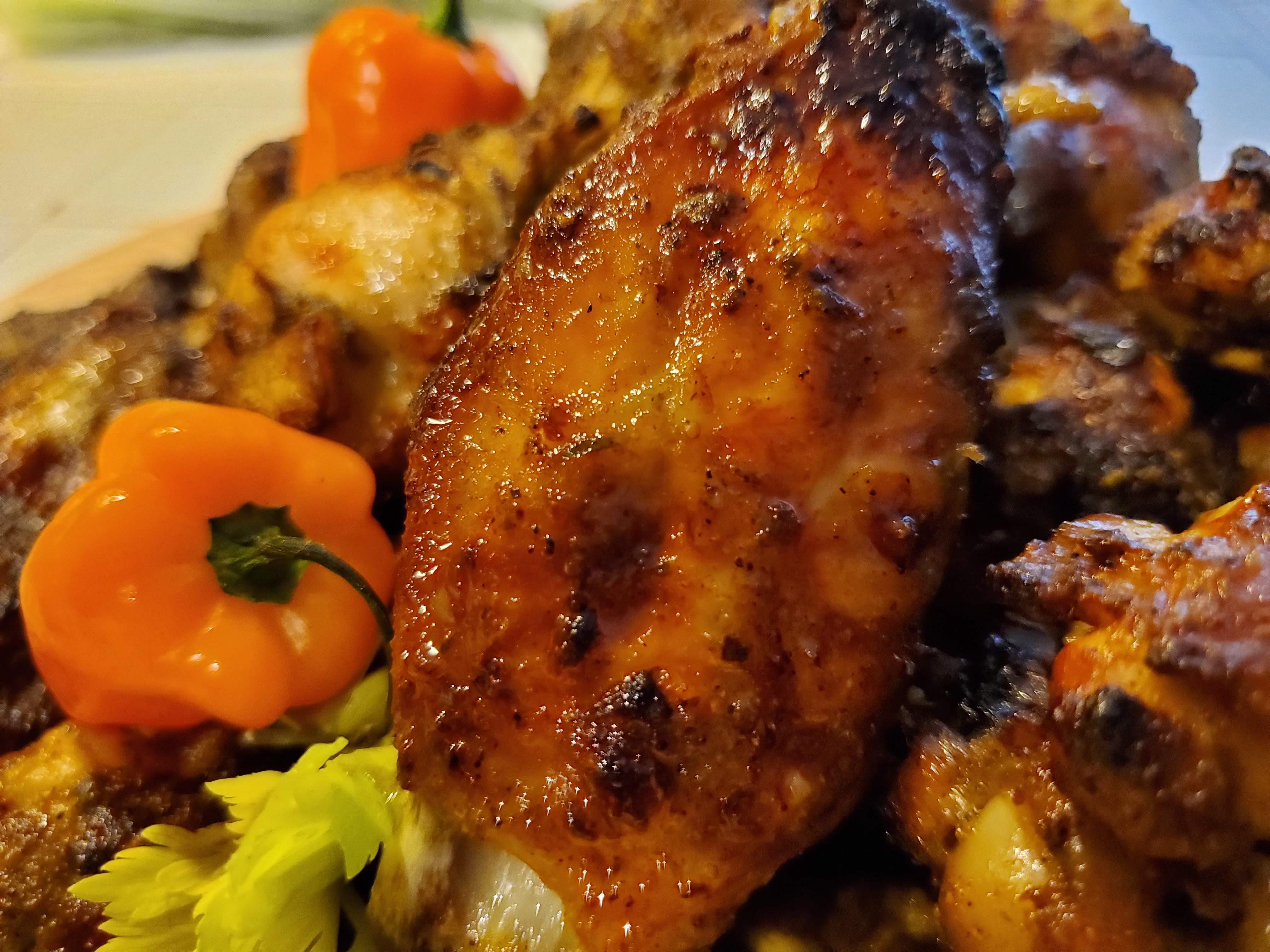 Barbecued Jerk Chicken Wings