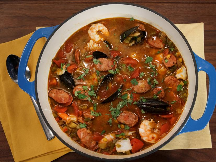 Quick Seafood and Sausage Stew
